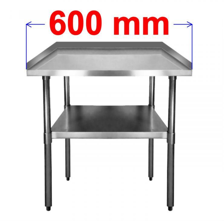 Pracovní nerezový stôl S3R60/60