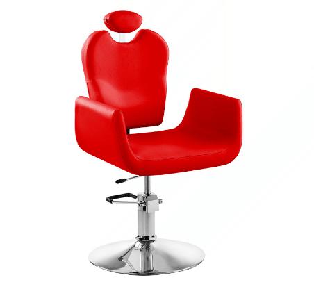 Rotačné kadernícke kreslo - červené