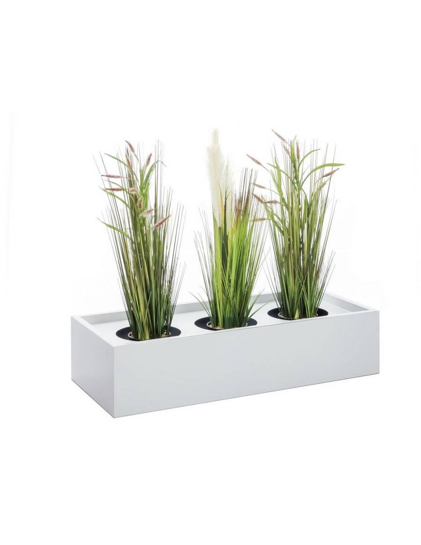 Kovový dekoratívny kvetinár 90 cm - svetlo šedý