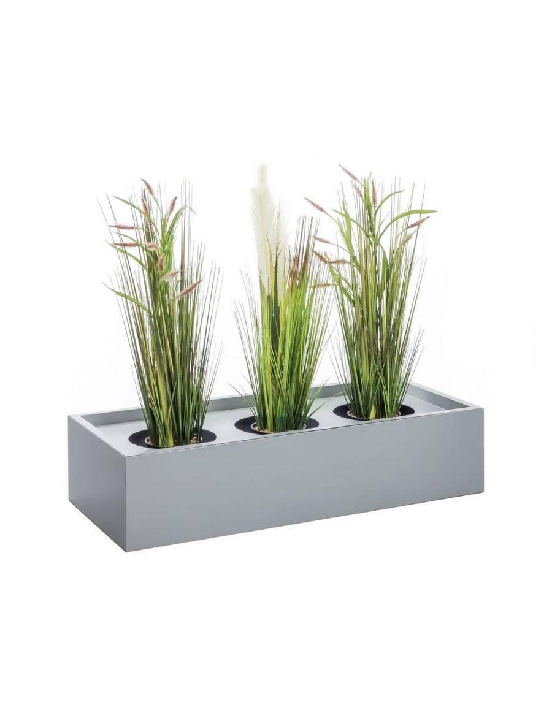 Kovový dekoratívny kvetinár 90 cm - šedý