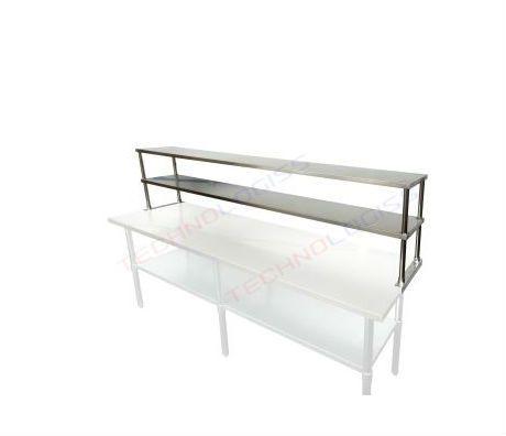 Nadstavba nerezová polica na stôl 150 cm