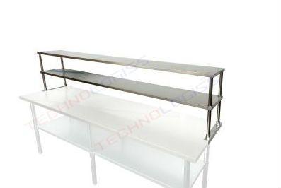 Nadstavba nerezová polica na stôl 90 cm