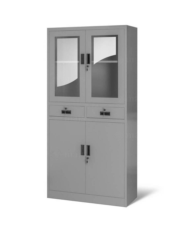 Kancelárska skriňa so zásuvkami - šedá
