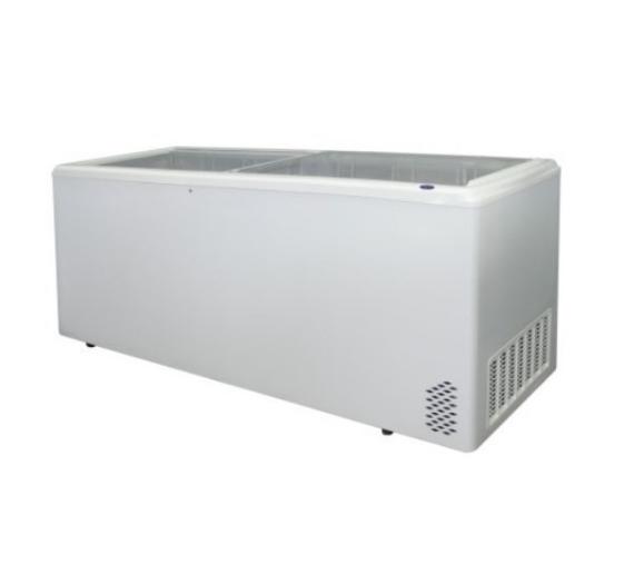 Pultová mraznička - 650 l - ARO rovné presklenné veko