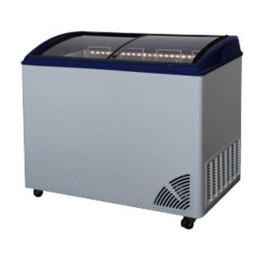 Digitálne pultová mraznička - 250 l - rovné veko